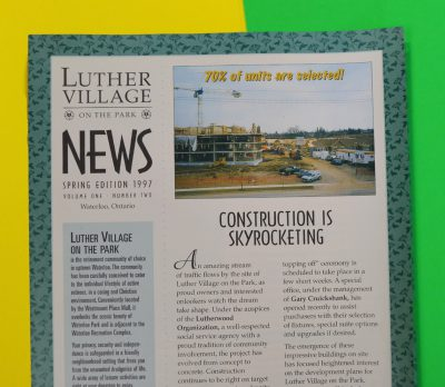 Luther Village News Spring 1997
