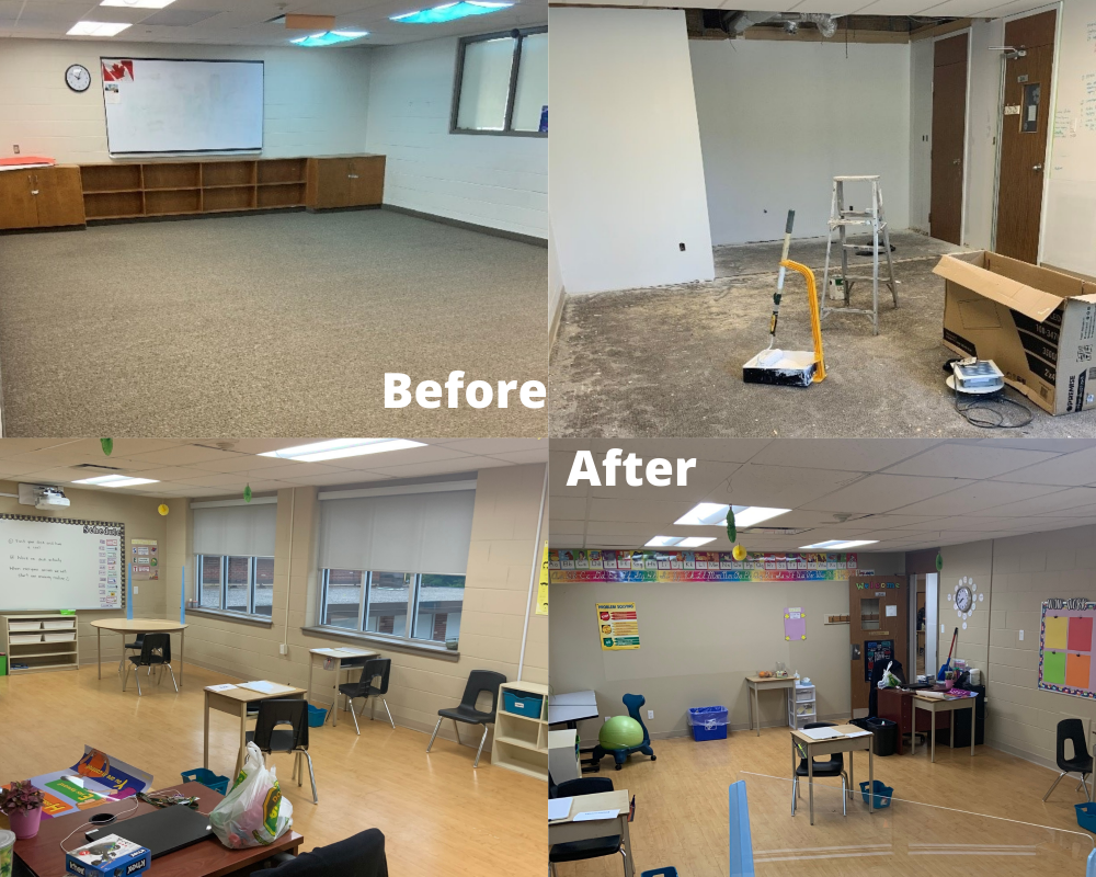 Before And After Classrooms