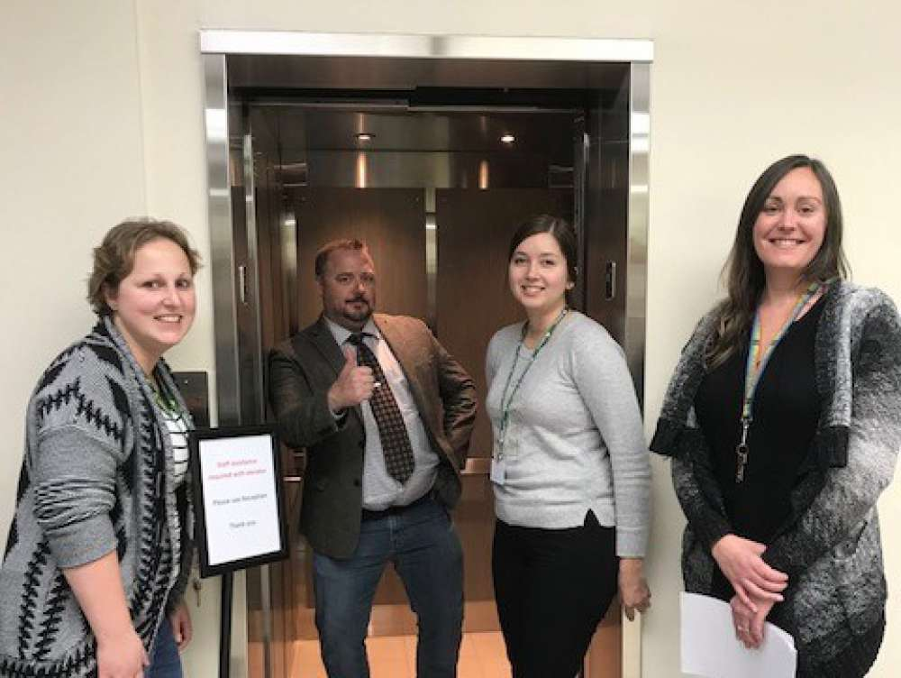 Cambridge Team With New Elevator