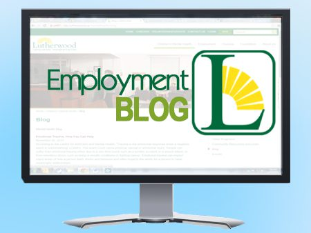 Employment  Blog Blue Background