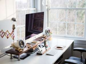 Canva Home Office Desk Workspace