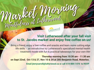 Market Morning Mindfulness Invitation Lutherwood 2016