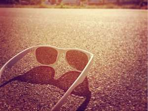 Sunglasses on ground