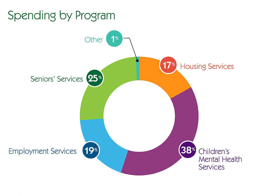 Spending By Program Pie Chart